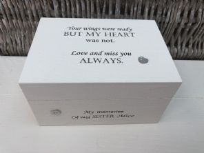 Personalised  In Memory Of Box Loved One ~ SISTER ~ any Name Bereavement Loss - 253568246171